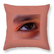 Eye On The Camera Throw Pillow