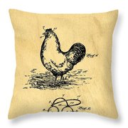 Eye Protector For Chickens Support Patent Drawing From 1903 1 Throw Pillow