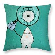 Eye Tooth  Throw Pillow