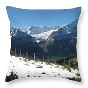 Eyeful Of The Eiger Throw Pillow