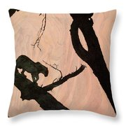 Eyeing The Panther Throw Pillow