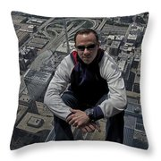 Eyes Down From The 103rd Floor Just Sitting Around Throw Pillow