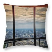 Eyes Down From The 103rd Floor Looking South Throw Pillow