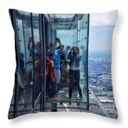 Eyes Down From The 103rd Floor Neighbors Throw Pillow