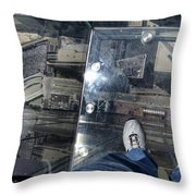 Eyes Down From The 103rd Floor One Big Step Throw Pillow