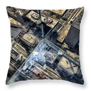 Eyes Down From The 103rd Floor One Small Step Throw Pillow
