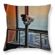 Eyes Down From The 103rd Floor Telescope Looking South Throw Pillow