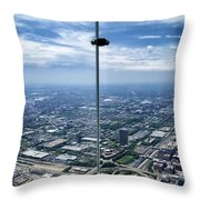 Eyes Down From The 103rd Floor The View From The Ledge Throw Pillow