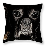 Eyes In The Dark Throw Pillow