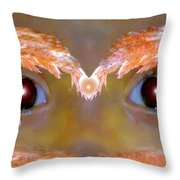 Eyes Of A Child Feathered Throw Pillow