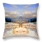 Eyes Of A Child Winter Blues Throw Pillow