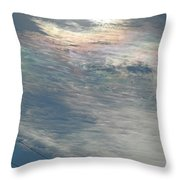Eyes Of Clouds Throw Pillow