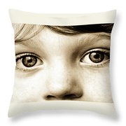 Eyes Of Innocence Throw Pillow