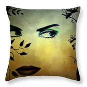 Eyes Of Mother Nature Throw Pillow