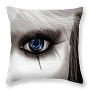 Eyes Of The Fool Throw Pillow