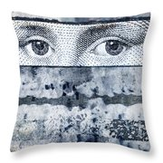 Eyes On Blue Throw Pillow by Carol Leigh