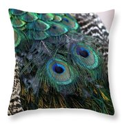 Eyes On My Back Throw Pillow