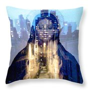 Eyes On The Alley Throw Pillow