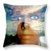 Eyes On The Horizon Throw Pillow