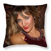 Eyes To Die For Throw Pillow
