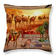 Eygptian Scene Throw Pillow