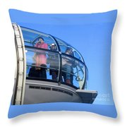 Eying London Throw Pillow