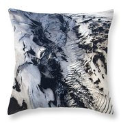Eyjafjallajokull And The Glacier Throw Pillow