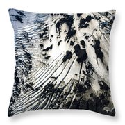 Eyjafjallajokull Glacier And Ashes Throw Pillow