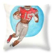 Ezekiel Elliott Ohio State Buckeyes Throw Pillow