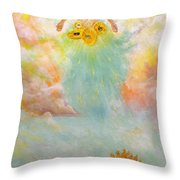 Ezekiel Revisited Throw Pillow by James  Andrews