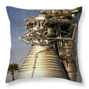 F-1 Rocket Engine Throw Pillow