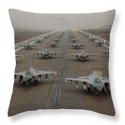 F-16 Fighting Falcons, Kunsan Air Base Throw Pillow