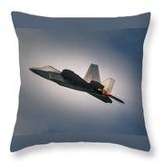 F-22 Throw Pillow