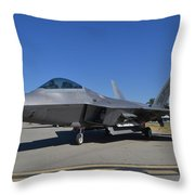 F-22 Raptor 2 Throw Pillow