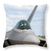 F-22 Raptor Lockheed Martin Air Force Throw Pillow