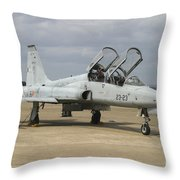 F-5 Tiger II Used As A Lead-in Trainer Throw Pillow