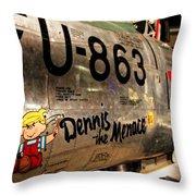 F-86d Sabre Dennis The Menace Throw Pillow