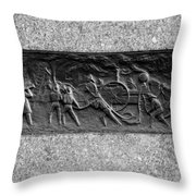 F. D. N. Y. In Black And White Throw Pillow