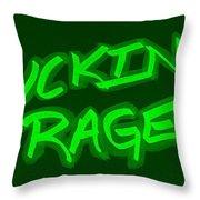 F R Green Throw Pillow