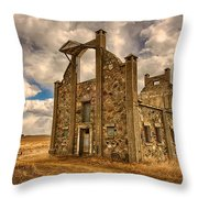 F. Schott Stone Barn  Throw Pillow