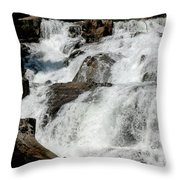 F Stop Glen Alpine Falls Throw Pillow