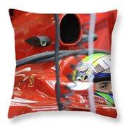 F1 Driver Felipe Massa Throw Pillow