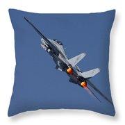 F14 Tomcat - Vf101 Grim Reapers Throw Pillow