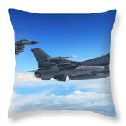 F16 Fighting Falcons Throw Pillow