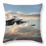 F18 - Super Hornet Throw Pillow