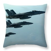 F18e Super Hornet  Throw Pillow