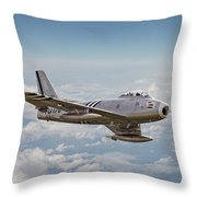 F86 Sabre Throw Pillow by Pat Speirs