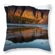 Fabulous Fjord Landscape Of Norway Throw Pillow
