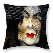 Fabulous In Fangs Throw Pillow