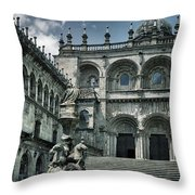 Facade Of The Silverware In Santiago De Compostela Throw Pillow